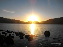 Atardecer en lago Icalma 2011