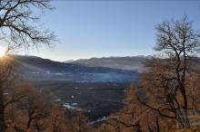 Lonquimay Atardecer Invernal, por Harvey Jara