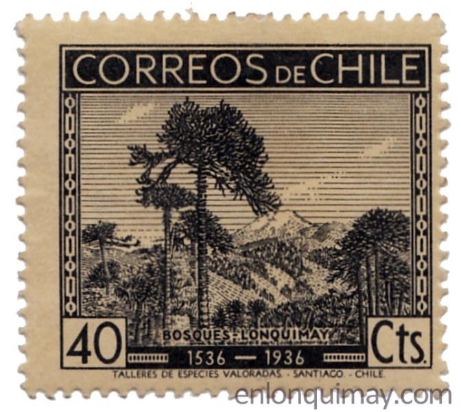 Sello postal de Lonquimay