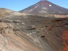 Borde Este Interior del cráter Navidad, sl fondo el volcán Lonquimay
