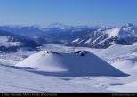 Cráter Navidad nevado