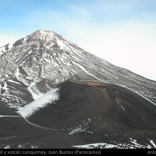Cráter Navidad y volcán Lonquimay