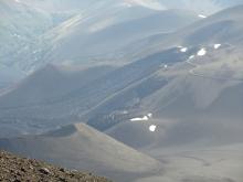vista desde el borde del cráter Navidad