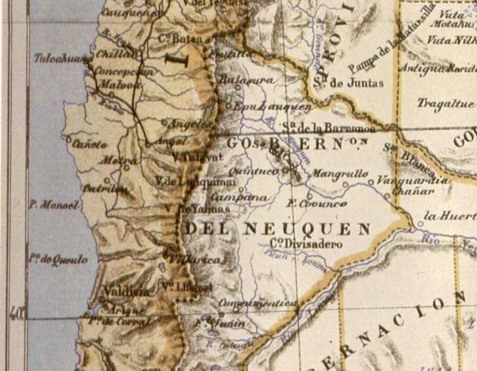 mapa Latzina1888