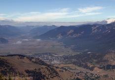 Lonquimay, vista aerea del valle