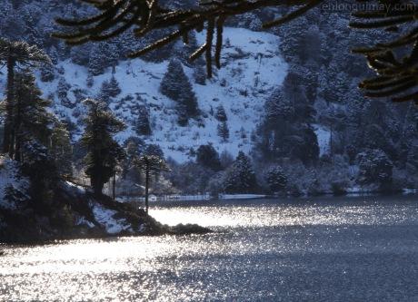 Atardecer invernal en Icalma