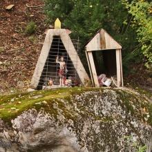 Animita y gruta a San Sebastián en Llanquén