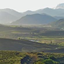 El valle visto desde Lolén