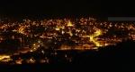 Vista nocturna de la ciudad de Lonquimay