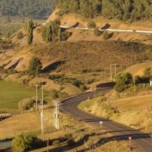 Lonquimay, el camino poco antes de llegar al pueblo