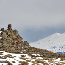 Cordillera Lonquimay, vista al Llaima